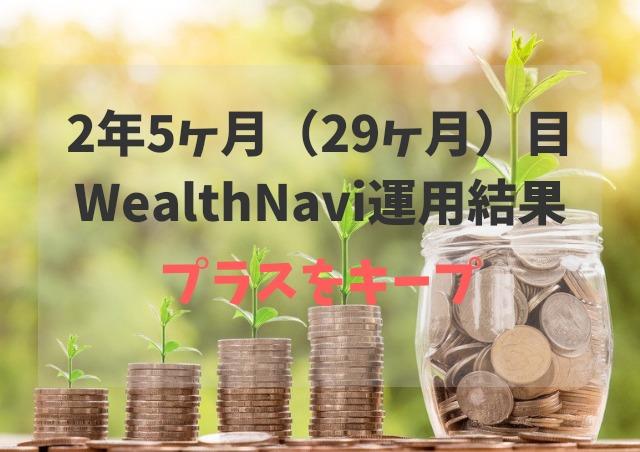 2年5ヶ月(29ヶ月)WealthNavi(ウェルスナビ)運用結果